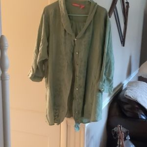 Embroidered green blouse